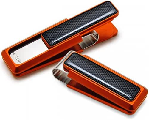 M-Clip Men's Ultralight Aluminum Anodized Money Clip One Size Orange