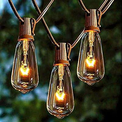 Afirst Outdoor Patio String Lights Halloween Lights Christmas Lights UL Listed for Garden/Backyard Party/Wedding