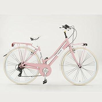 Velomarche Bicicleta Summer Mujer con Marco de Aluminio, Rosa, 46 ...