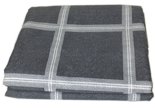 Cheap  Chesterch Prevoster Gingham Microfiber Duvet Cover Blue-Gray,No Comforter,Full Queen Size