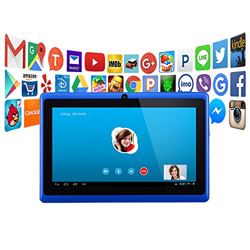 "Alldaymall A88X 7"" Tablet – 2015 Newest Tablet PC for Kids  – Blue"