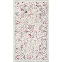 Safavieh Windsor Collection WDS309D Ivory and Fuchsia Vintage Distressed Bohemian Runner (3 x 12)