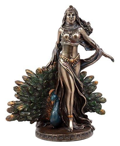 Ebros Gift Roman Juno Greek Goddess Hera with Sacred Peacock Statue Deity of Marriage Fertility & Women Decorative Figurine]()