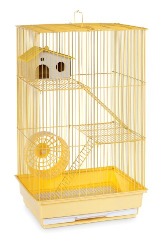 Image of Prevue Hendryx SP2030Y Three Story Hamster and Gerbil Cage, Yellow