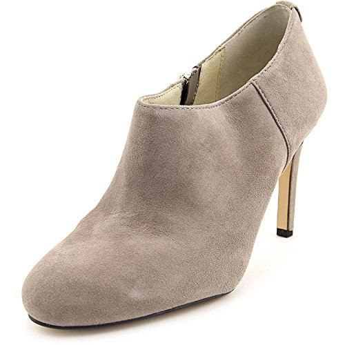 Pearl Grey Footwear (MICHAEL Michael Kors Women's Sammy Ankle Boot Pearl Grey Suede 6)