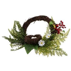 Simulation Floral Door Wreath Artificial Berry Bird Nest Rattan Garland for Home Wall Garden Wedding Party Decor 32
