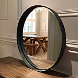 Steel Magnolias Specchio rotondo 55cm diametro, Peltro colore finitura