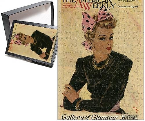 1912 Period Costumes (Photo Jigsaw Puzzle of David Wright woman in black and pink)