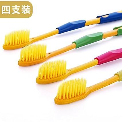 UWSZZ Nano-resina innovadora doble cepillo de dientes finos de carbón portátil de viaje cepillos