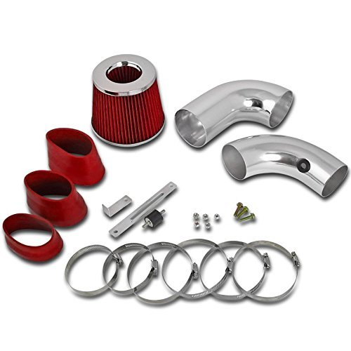 Spec-D Tuning AFC-S1096V6RD-AY Chevy S10 Blazer/GMC Sonoma Jimmy 4.3L V6 Cold Air Intake+Red Filter ()