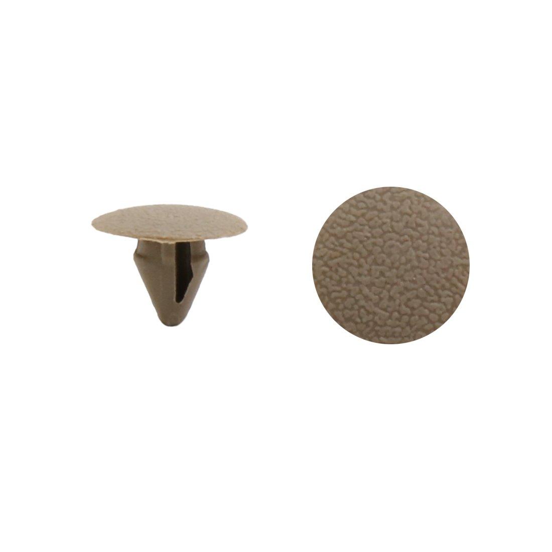 Sourcingmap/® Clips Orificio de 9,5mm en el Remache de pl/ástico Gris Empuje el Panel del tapizado Interior Puerta del Autom/óvil
