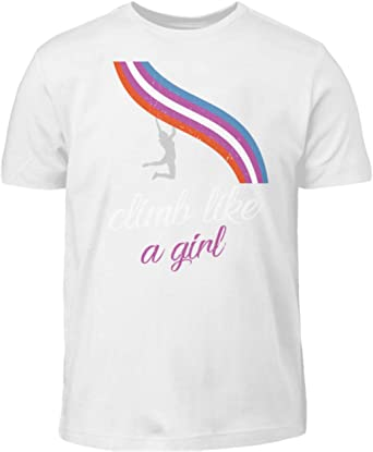 Climb Like a Girl - Camiseta infantil para mujer y niña ...