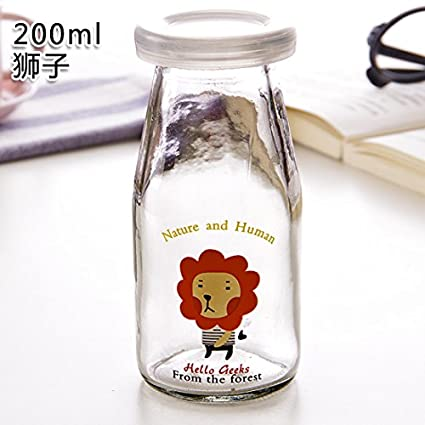 KXZDAS Bricolaje Creativo Pudding Botella Botellas de Vidrio Resistente al Calor con Tapa de Vaso de