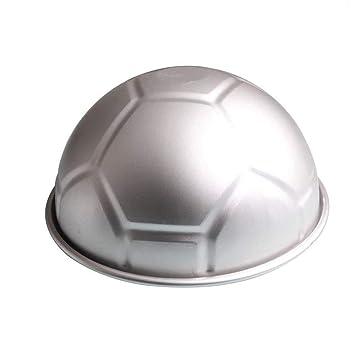 Ogquaton Premium - 1 Pieza 3D de Media Pelota en Forma de fútbol, Tarta, Molde de 8 Pulgadas, Grosor de aleación de Aluminio, Molde de cumpleaños: ...