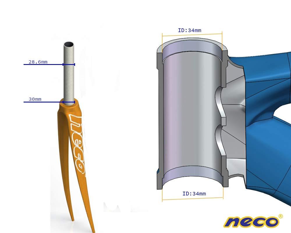 Neco Taiwan H717 1-1//8 Threaded MTB ATB Trecking Comfort Bike Headset 34mm Headtube