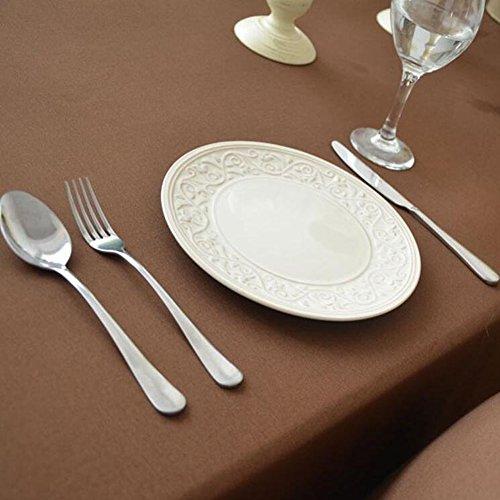 MeMoreCool Top Grade Pure Color Rectangular Table Cloth Euro