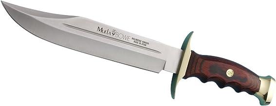 Muela BW-22 Coral Pakkawood Hunting Knife with Leather Sheath, 7-1 8
