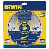 IRWIN Tools MARATHON Vinyl Siding Corded Circular Saw Blade, 7 1/4-inch, 120T (11830)