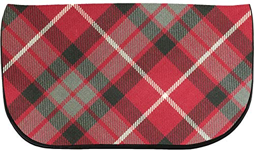 Bag Large Clutch Back Inside With Fraser and Tartan With Pocket Leather Red ppr6BgW