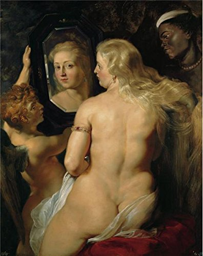 Oil Painting 'Peter Paul Rubens-Venus In Front Of The Mirror,1614-1615', 10 x 13 inch / 25 x 32 cm , on High Definition HD canvas prints is for Gifts And Home Office, Kids Room And Kitchen Decoration
