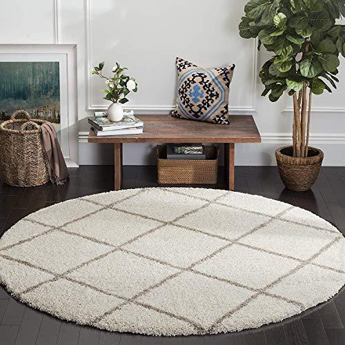 imsid Carpet  Ivory , White, Polyester, 3 x 3 Feet