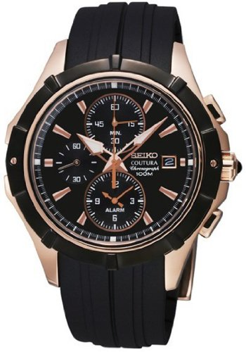 Seiko SNAF14P1 Coutura Alarm Chronograph Men's Quartz (Alarm Chronograph 100m Mens Watch)