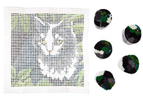 Cat Latch Hook - Dimensions Arts and Crafts Cat Latch Hook Kit, 12''L x 12''H