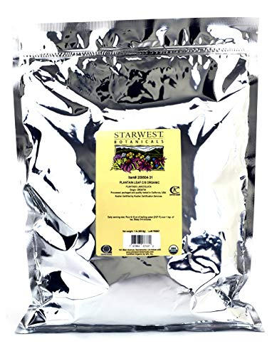 Starwest Botanicals Organic Plantain Leaf Cut Sifted