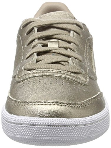 Zapatillas Reebok Club C 85 Melted Metal Pearl Mujer Gris Oro