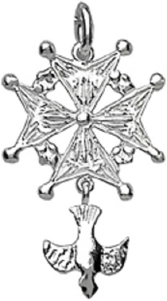Pendentif Argent 925 Croix Huguenote Grand Mod/èle