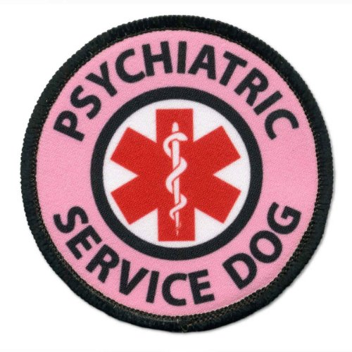 Pink Psychiatric Service Dog Medical Alert Symbol 3.5 inch B