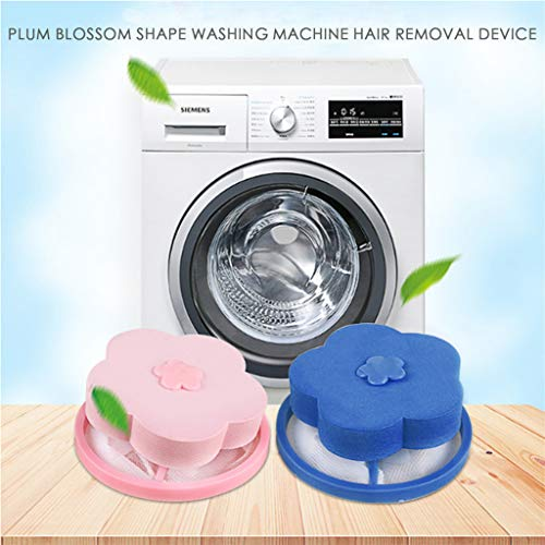 Dearprias Floating Pet Hair Catcher Filtering Hair Removal Device Wool  Cleaning Supplies (Pink Blue, A)
