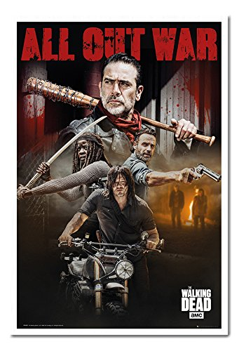 amazon com the walking dead season 8 collage poster magnetic notice