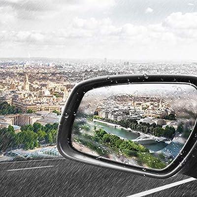 12 Pieces Car Rearview Mirror Film Rainproof Waterproof Mirror Film Anti Fog Nano Coating Car Film for Car Mirrors and Side Windows: Automotive