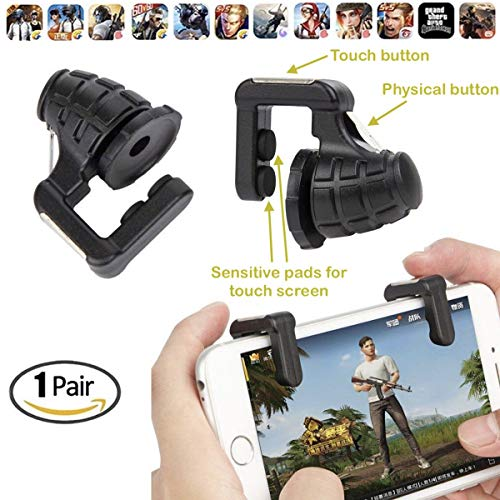 Gamers Tech Gatillos Dobles para Telefono Celular 4 Botones L1R1 L2R2 Black Sport Ed. iPhone Android iOS Fortnite Mobile Free...