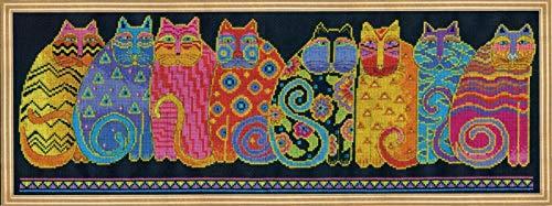Design Works Counted Cross Stitch Kit - Laurel Burch Feline Family Row ()