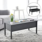 Lift Up Coffee Table HomCom Lift Top Storage Coffee Table - Black