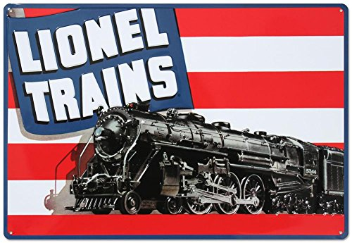 Lionel Trains American Flag Tin Sign 11 x 15in