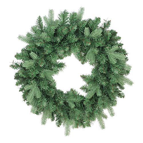 """Northlight Coniferous Mixed Pine Artificial Christmas Wreath, 24"""", Green"""