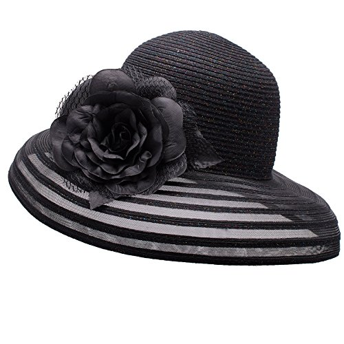 Stile Nero Sposa A482 Dinastia Derby Chiesa Cappello Kentucky Lawliet Ascot Womens Scintillio wOqUYw