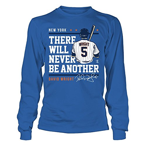 FanPrint David Wright - Never Be Another - Gildan Long-Sleeve T-Shirt - Officially Licensed Fashion Sports Apparel