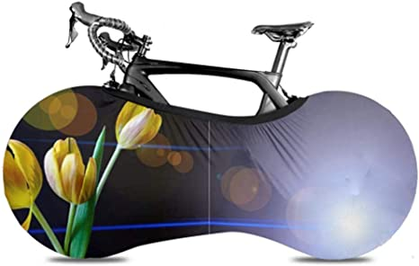 UQ Galaxy Cubierta De Rueda De Bicicleta,Lente Tulipán Flores De Primavera Cubierta De Neumático De Bicicleta Amarilla Cubierta De Bicicleta Viaje Cubiertas De Bicicleta Protectoras para Adultos: Amazon.es: Deportes y aire libre