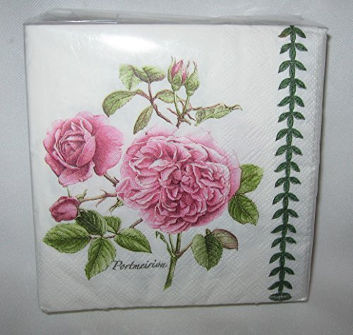 Portmeirion Botanic Garden 40 3-ply Beverage Napkins (Roses Botanic)
