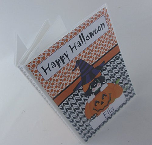 Halloween Photo Album #IA435 4x6 or 5x7 Picture Black Kitty Cat Jack O Lantern Pumpkin Trick or Treat Happy Halloween