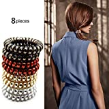 Hair Band Ties Traceless Elastics Hair Bands Spiral Hairbands Rings No Crease Painless Ponytail Holder For Girls Women Headbands Hair Ornaments…