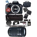 Canon EOS Rebel T7i DSLR Camera (Body Only) 1894C001 + Canon 55-250STM Lens USA Model Bundle
