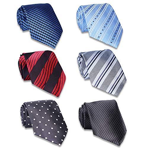 AVANTMEN Classic Men's Neckties 6 PCS Woven Jacquard Neck Ties (S8)