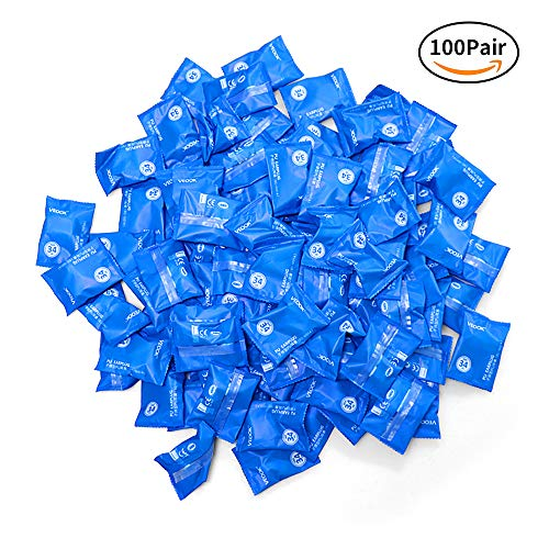 Soft Foam Earplugs,100Pair 34db Highest NRR,Hearing Protection for Sleeping Reduce Noise Quiet Please Ear Care and Comfortable, Snoring, Work, Travel,Loud Events,Shooting,Concerts,Studying Blue (100) by veook