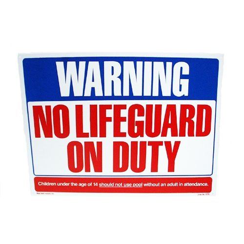 Valterra Products B8701 Blue Devil 18 x 24 In. No Life Guard On Duty Sign by Valterra