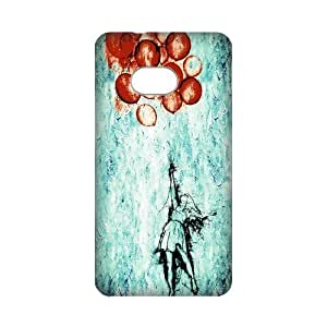 DIY Case Balloon Girl Hard Plastic Back Case Cover for Personalized Case for HTC One M7 Case-Perfect as Christmas gift(1)